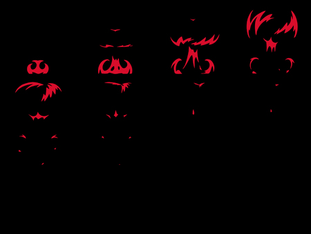 Explosion special effect fx animation frames sprite sheet. Clear explosion frames for flash animation in games, video and cartoon. Stock Photo