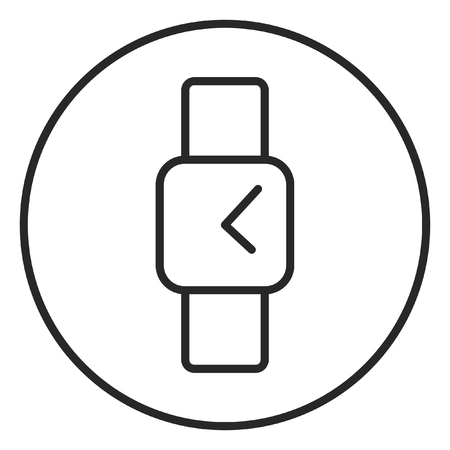 Hand watch stroke icon, outline design editable stroke pixel perfect Zdjęcie Seryjne