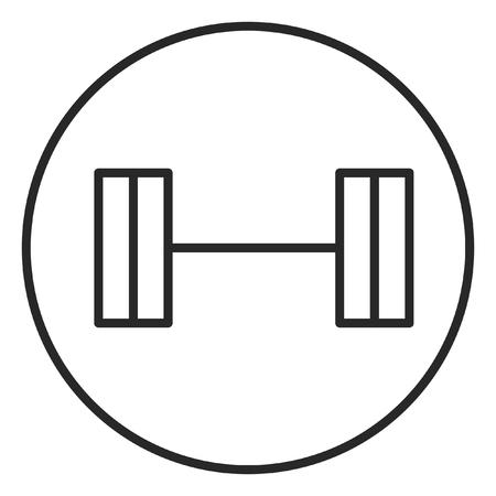 Barbell stroke icon, illustration. Stroke high quality symbol.