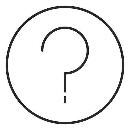 Question mark stroke icon, logo illustration. Stroke high quality symbol.