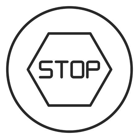 Stop sign stroke icon, logo illustration. Stroke high quality symbol. Stock Photo