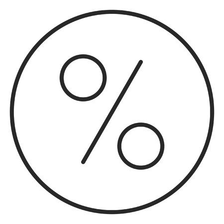 Percent sign stroke icon, logo illustration. Stroke high quality symbol. Stock Illustration - 112184067