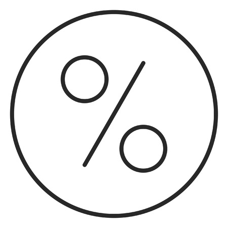 Percent sign stroke icon, logo illustration. Stroke high quality symbol.