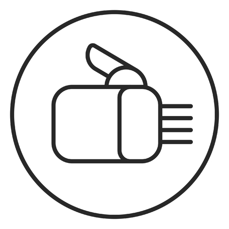 Robot hand stroke icon, logo illustration. Stroke high quality symbol. Stock Photo