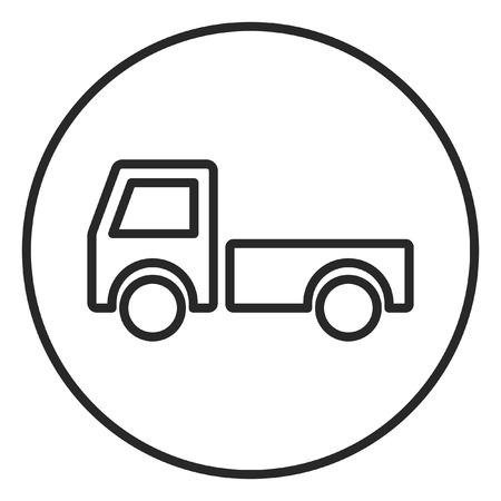Truck stroke icon, logo illustration. Stroke high quality symbol. Banco de Imagens