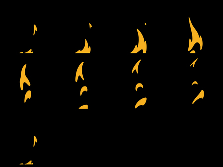 Sprite Sheets Fire Loop. Ready for games or cartoon.