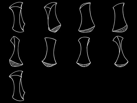 Sprite Sheets Geometry Loop. Ready for games or cartoon.