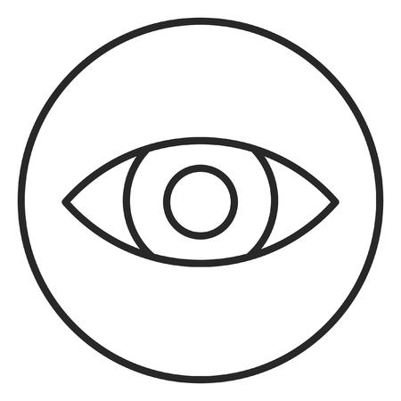 Eye stroke icon, logo illustration. Stroke high quality symbol.