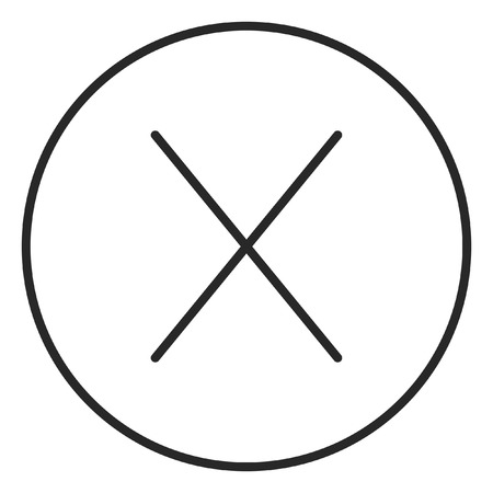 No sign stroke icon, logo illustration. Stroke high quality symbol. 版權商用圖片