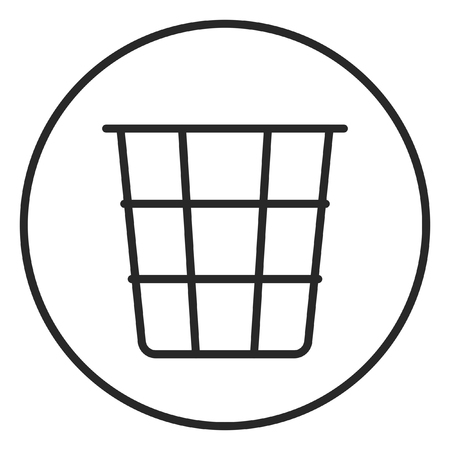 Basket for paper stroke icon, logo illustration. Stroke high quality symbol. 版權商用圖片