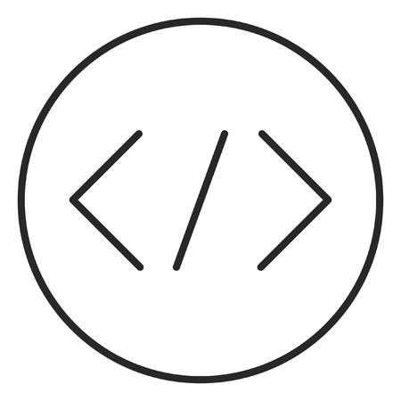 Coding stroke icon, logo illustration. Stroke high quality symbol. Banco de Imagens