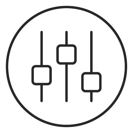 Control stroke icon, logo illustration. Stroke high quality symbol.
