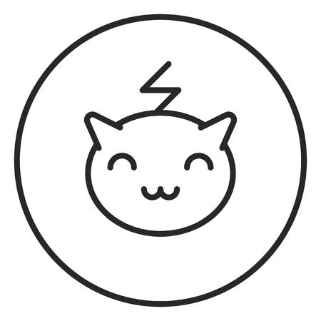 Pokemon stroke icon, logo illustration. Stroke high quality symbol. 写真素材