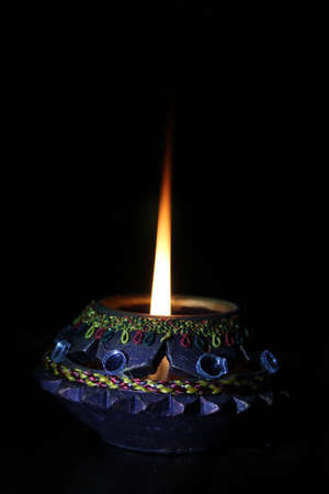 oil lamp:  Beautiful Diwali lamp Stock Photo