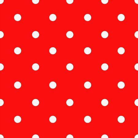 Modèle sans couture de vecteur à pois rouge et blanc