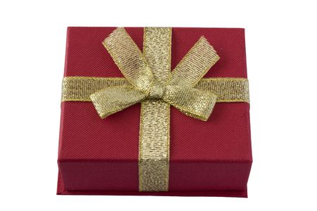red box with gold bow photo