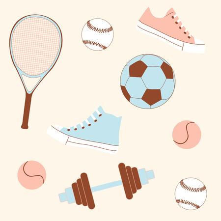 sporting goods: Bienes sin fisuras deportivas patr�n de tejidos o papel de envolver