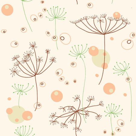 seamless abstract background with nature theme Stock Vector - 6023662