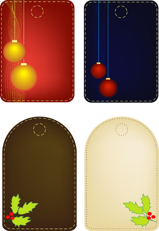 Set of Four Christmas labels. Mesh, blend included Stock Vector - 6023668