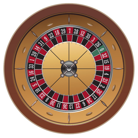 roulette: roulette, casino on white background, vector Illustration