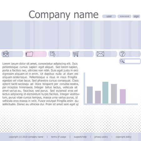 Abstract  web site template Stock Photo - 6799735