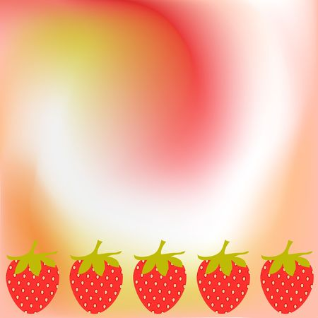 Abstract strawberry background Stock Photo - 6799744