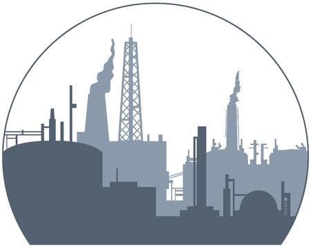 edificio industrial: Backgroung industrial Vectores