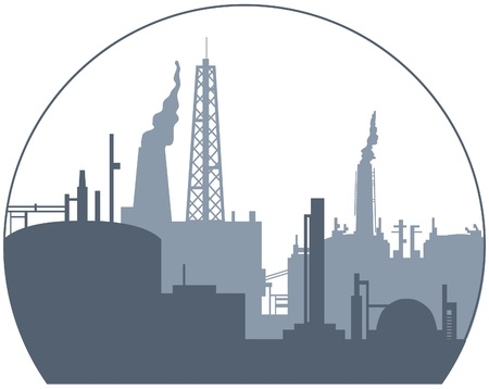 industrial plant: Industrial backgroung Illustration