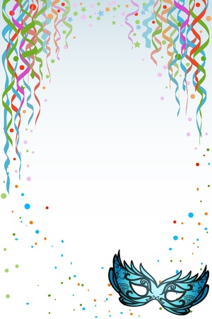 Mardi Gras  Carnival background with copy space photo