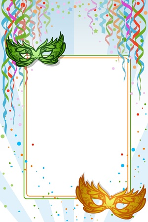 paper mask: Mardi Gras  Carnival background with copy space