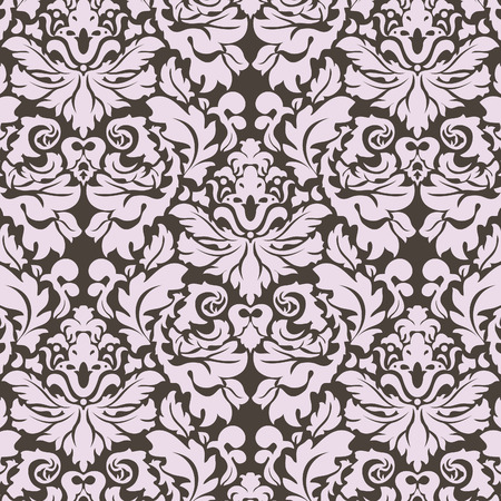 Seamless floral wallpaper; retro background Stock Vector - 9126752