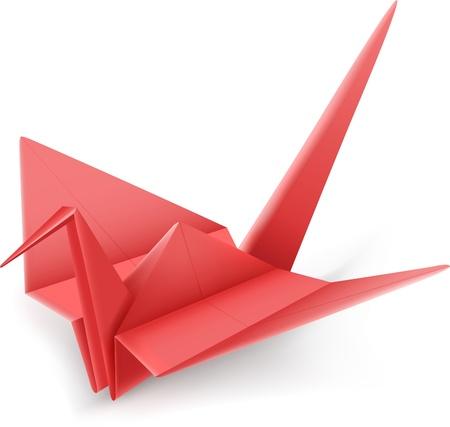 Vectorillustratie van Japanse origami grou