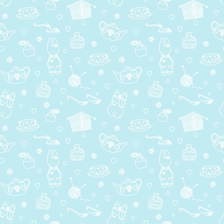 Seamless pastime things; pattern; vector Vector