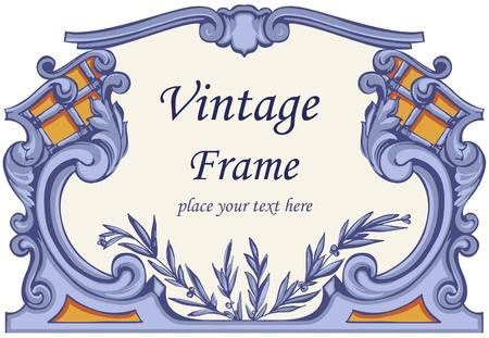 rococo: Vintage Frame.