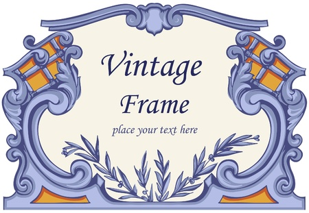 retro styled imagery: Vintage Frame.