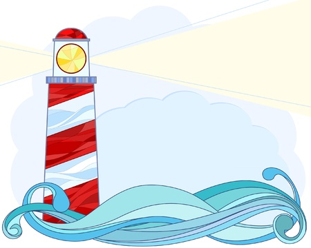 Lighthouse: Stylised Vector illustration of a lighthouse