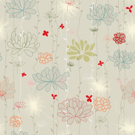 Pattern, floral background Vector