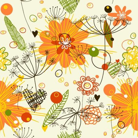 Zusammenfassung Hintergrund. Endless Blumenmuster. Nahtlose Muster für Tapeten, Muster füllt, Web-Seite Hintergrund, Oberflächen-Texturen verwendet werden.