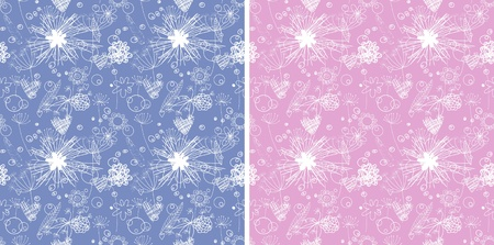 Two hue abstract backgrounds. Endless floral pattern. Seamless pattern can be used for wallpaper, pattern fills, web page background, surface textures. Stock Vector - 10697173