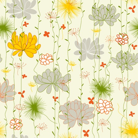 can pattern: Abstract Nature Pattern with plants, flowers. Can be used for wallpaper, pattern fills, web page background, surface textures.