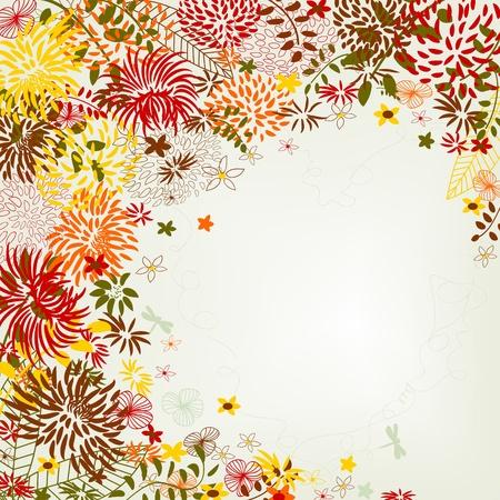 linework: Floral greeting card
