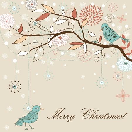 new day: Stagioni saluti sfondo. Cartolina di Natale.