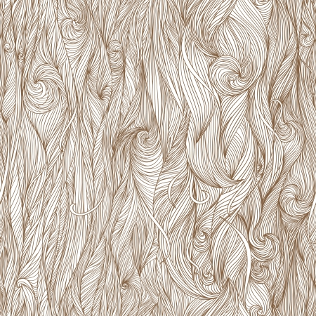 Abstract  hand-drawn pattern, waves background. Seamless pattern can be used for wallpaper, pattern fills, web page background, surface textures.  Vector