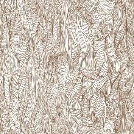 Resumen patrón dibujado a mano, las olas de fondo. Seamless patrón se puede utilizar para el papel pintado, patrones de relleno, de fondo página web texturas de la superficie,. Ilustración de vector