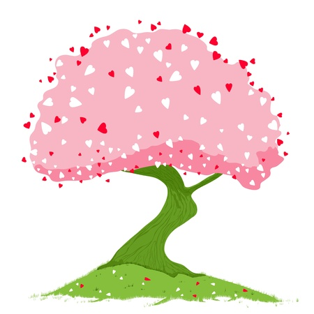 Heart tree. Concept of the love.  Stock Vector - 11985127