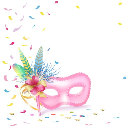 Carnival Venetian Mask isolated Stock Vector - 12072224