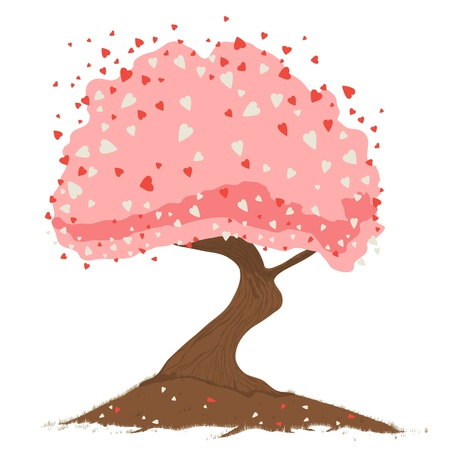 Heart tree. Concept of the love. Stock Vector - 12072223