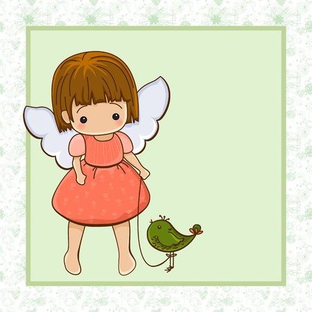 Angel girl. Cupid.  Stock Vector - 12332297