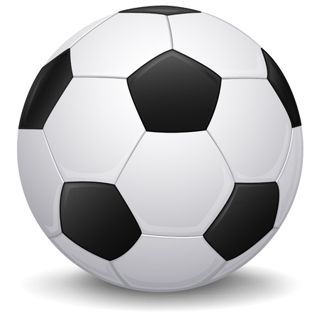 evening ball: Detailed Soccer balll, football icon, isolated