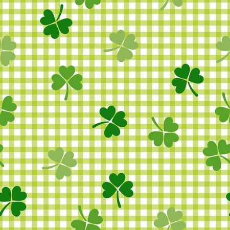 Clover background. St. Patricks Day pattern. Seamless tile. Stock Vector - 12807699